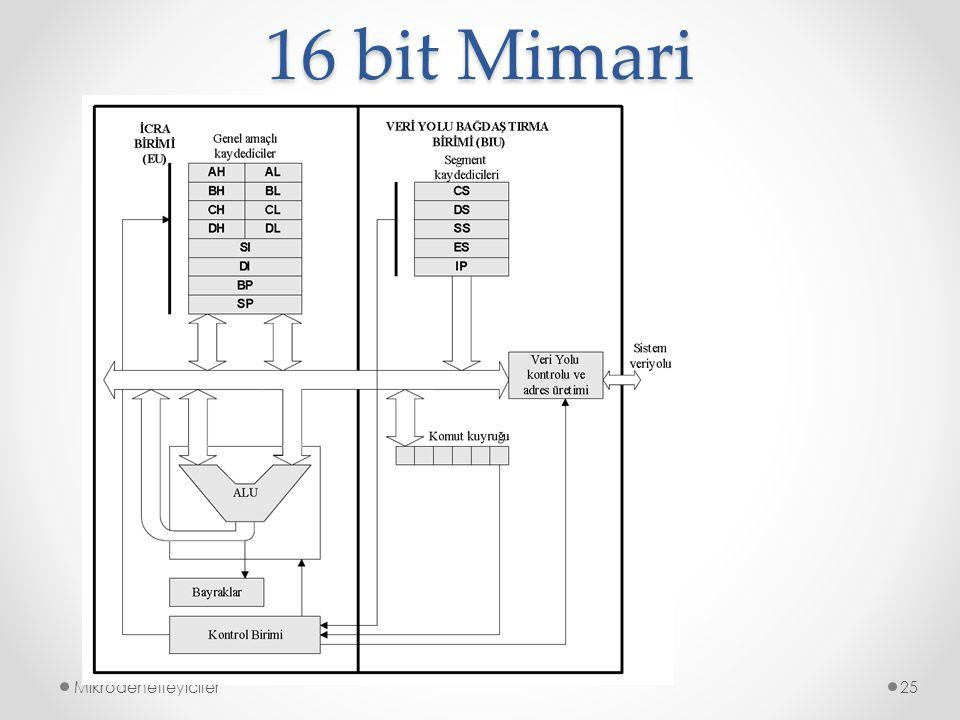 16 bit Mimari Mikrodenetleyiciler25