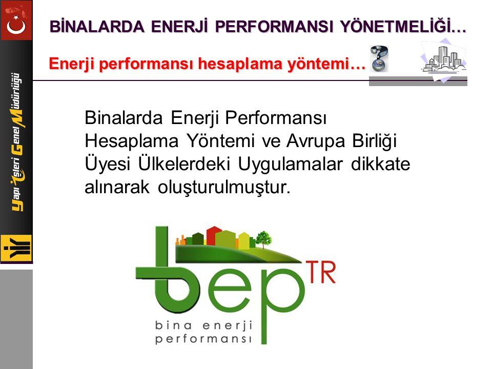 BİNALARDA ENERJİ PERFORMANSI YÖNETMELİĞİ… Enerji performansı hesaplama yöntemi… Binalarda Enerji Performansı Hesaplama Yöntemi ve Avrupa Birliği Üyesi