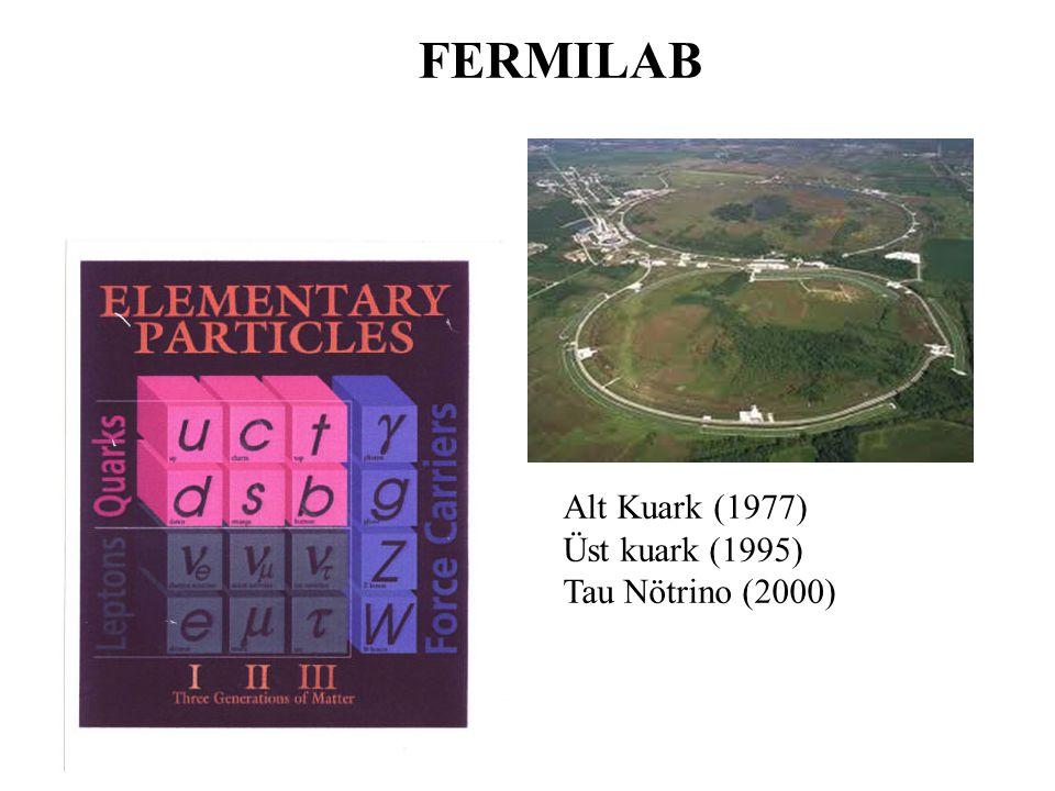Alt Kuark (1977) Üst kuark (1995) Tau Nötrino (2000) FERMILAB