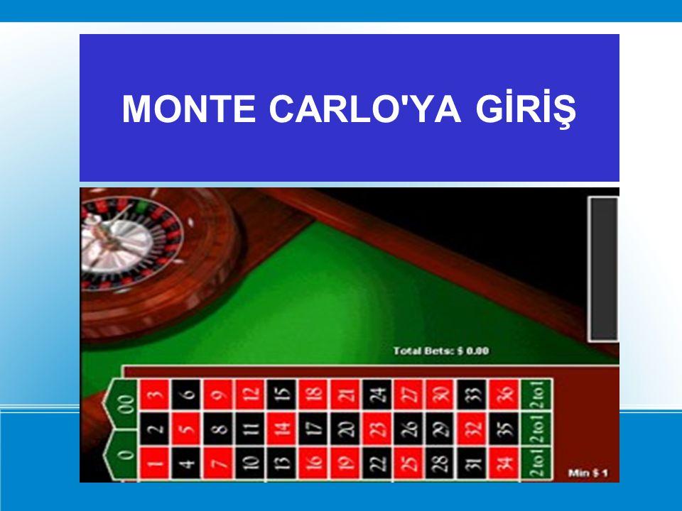 MONTE CARLO'YA GİRİŞ