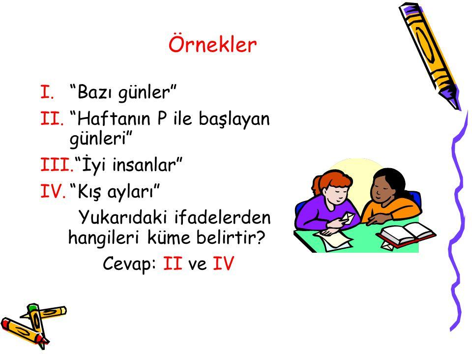 A= a,b,c,d kümesi için hangisi yanlıştır? a)a ЄA b)b ЄA c)B ЄA d)c ЄA Doğru Cevap: c Geri dön!