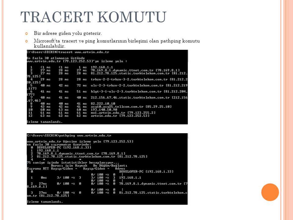 ARP (A DRES Ç ÖZÜMLEME P ROTOKOLÜ ) IP adreslerini fiziksel adrese dönüştürmek için kullanılır.