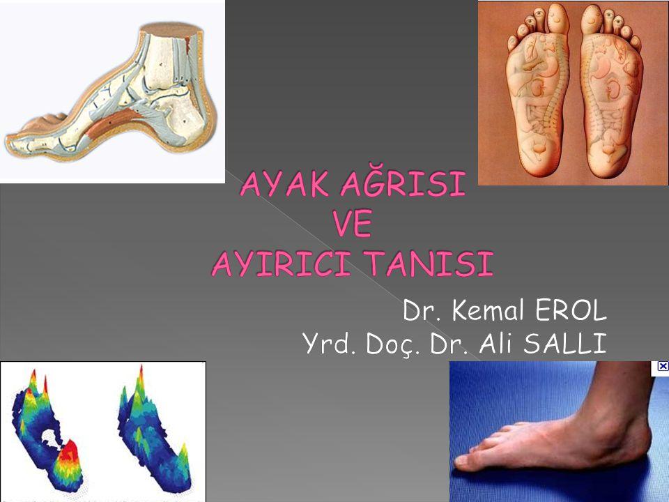  Travma sonrası kronik ağrı: Talar yaralanma . Tibiotalar osteoartrit nispeten daha az görülür.