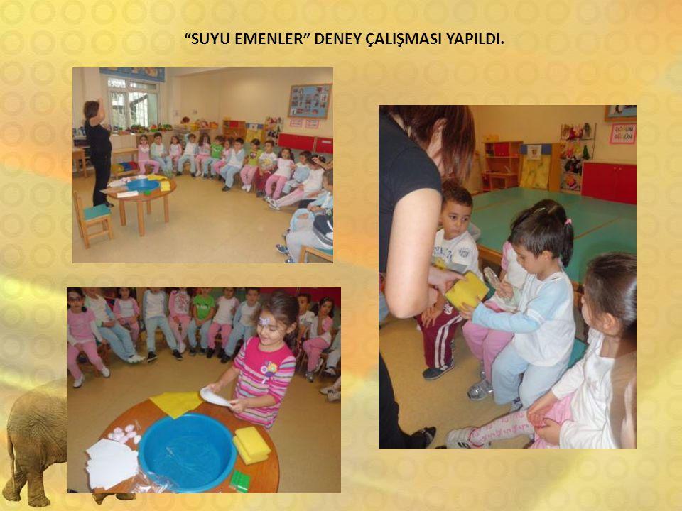 """""""SUYU EMENLER"""" DENEY ÇALIŞMASI YAPILDI."""