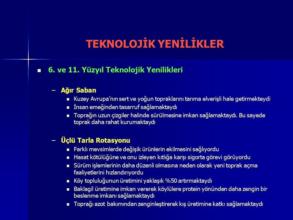 6.ve 11. Yüzyıl Teknolojik Yenilikleri 6. ve 11.