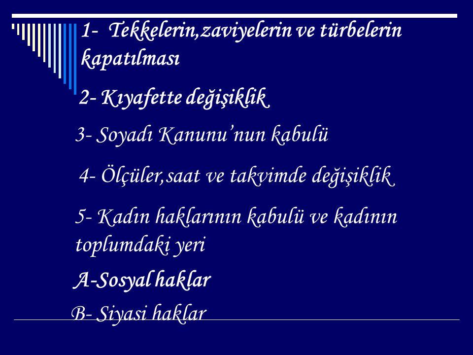 Soyadı Kanunu'nun Kabulü Osmanlı da soyadı yoktu.Bu durum toplumda sorunlar yaratıyordu.