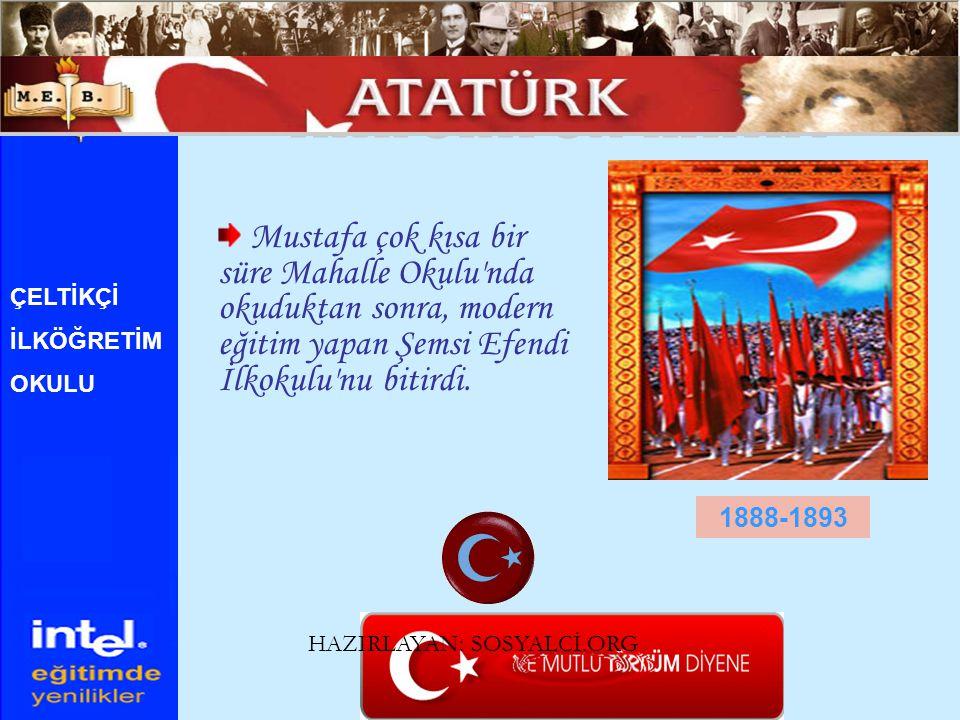 Küçük Mustafa, Selanik Askeri Okulu na (rüştiye ye) girdi.