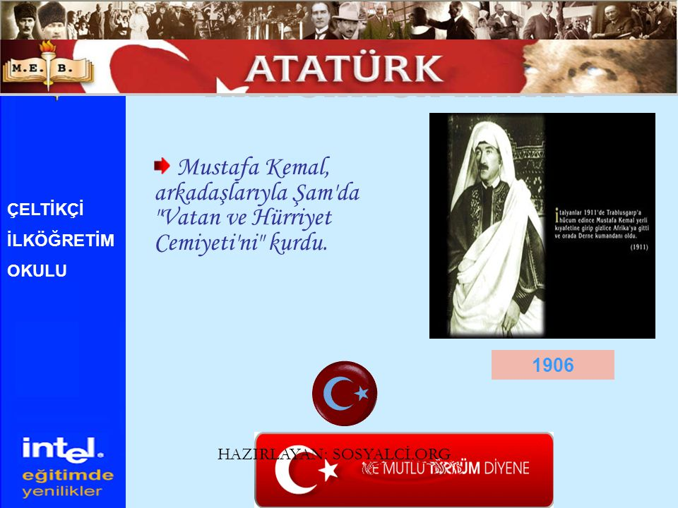 1922 ÇELTİKÇİ İLKÖĞRETİM OKULU 1Kasım 1922 - Mustafa Kemal in emriyle, TBMM si tarafından saltanat kaldırıldı.