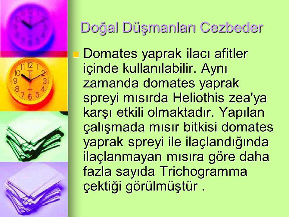 Doğal Düşmanları Cezbeder Domates yaprak ilacı afitler içinde kullanılabilir.