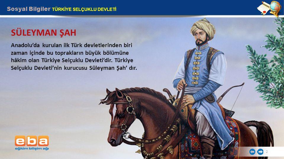 2 Anadolu'da kurulan ilk Türk devletlerinden biri zaman içinde bu toprakların büyük bölümüne hâkim olan Türkiye Selçuklu Devleti'dir.