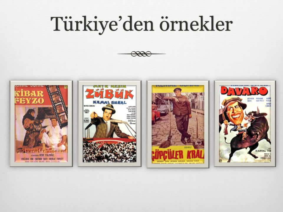 Türkiye'den örneklerTürkiye'den örnekler