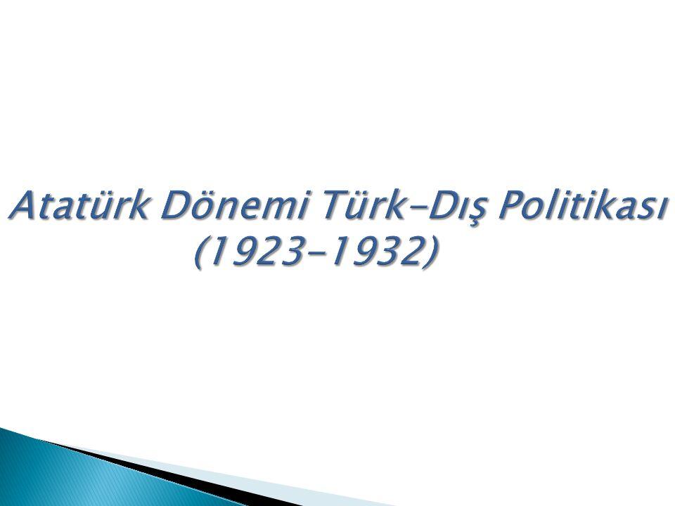 TÜRK İ YE-FRANSA İ L İ ŞK İ LER İ (1923-1939)  Türkiye ile Suriye arasındaki sınırın saptanması  Türkiye'deki Fransız okulları  Adana-Mersin demiryolunun satın alınması,  Osmanlı borçları sorunu,  Hatay (Sancak) sorunudur
