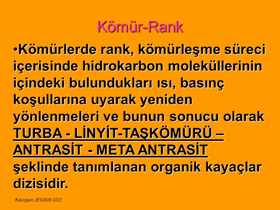 Kömür-Rank Kavuşan JEM408 13/23