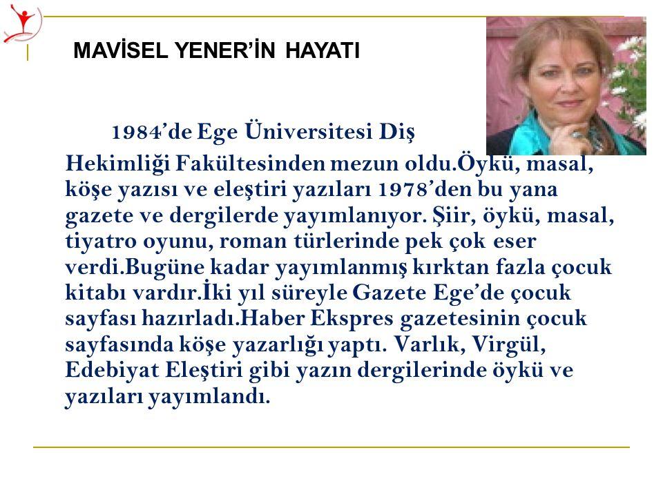 1984'de Ege Üniversitesi Di ş Hekimli ğ i Fakültesinden mezun oldu.Öykü, masal, kö ş e yazısı ve ele ş tiri yazıları 1978'den bu yana gazete ve dergilerde yayımlanıyor.