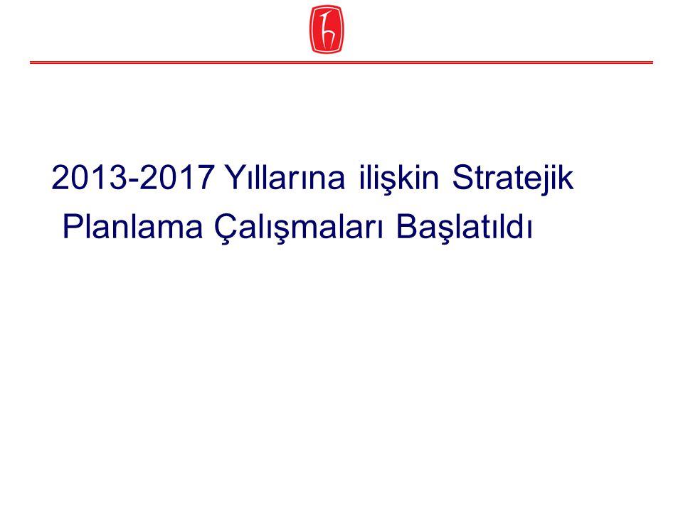 2013-2017 Yıllarına ilişkin Stratejik Planlama Çalışmaları Başlatıldı