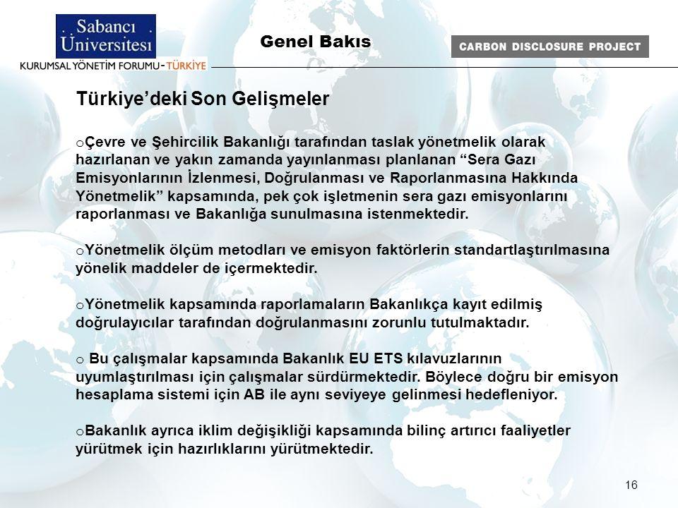16 Genel Bakıs Türkiye'deki Son Gelişmeler o Çevre ve Şehircilik Bakanlığı tarafından taslak yönetmelik olarak hazırlanan ve yakın zamanda yayınlanmas