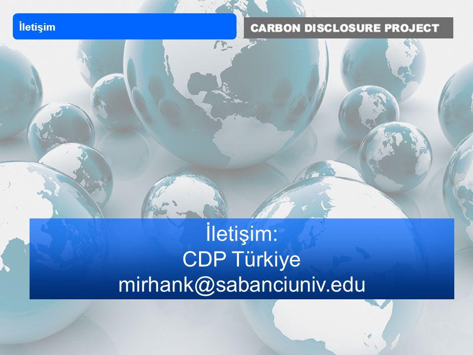 İletişim: CDP Türkiye mirhank@sabanciuniv.edu İletişim