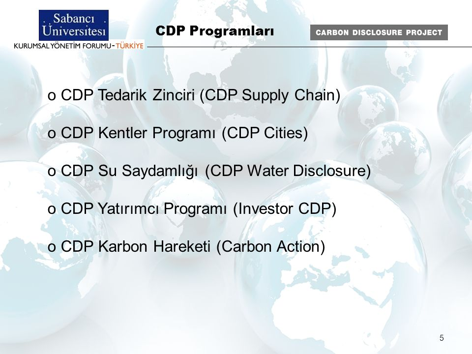 CDP Water Disclosure Lead Sponsors