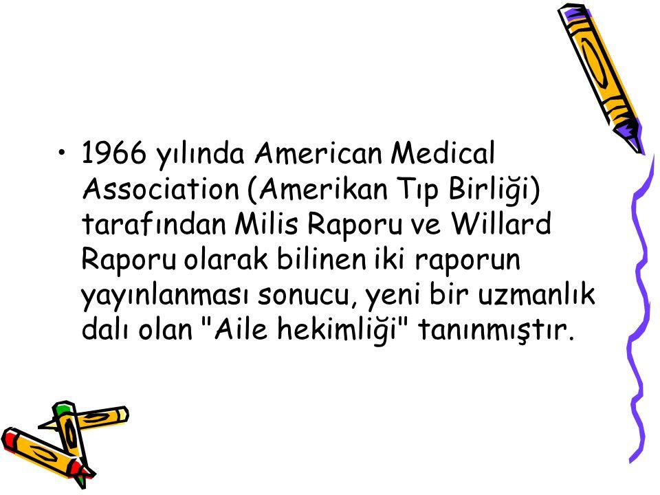 1966 yılında American Medical Association (Amerikan Tıp Birliği) tarafından Milis Raporu ve Willard Raporu olarak bilinen iki raporun yayınlanması son