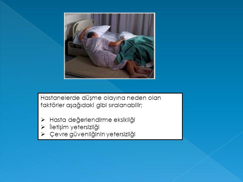 2.Adım : Yatan Hastaların Düşme Riskinin Önlenmesine Yönelik Düzenlemeler Yapılması a)Yatan hasta, bölüme kabulünde  düşme riski yönünden değerlendirilmelidir.