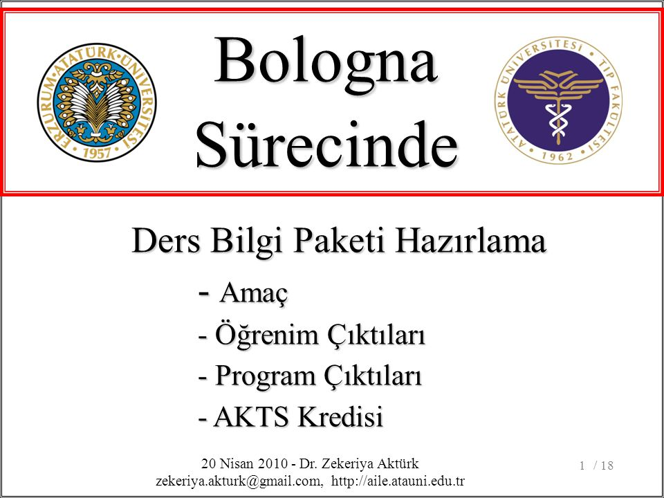 / 181 BolognaSürecinde 20 Nisan 2010 - Dr.