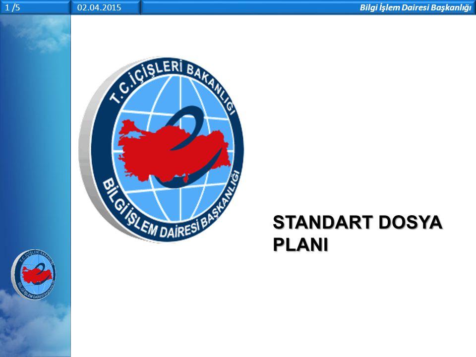 Bilgi İşlem Dairesi Başkanlığı 1 /5 02.04.2015 STANDART DOSYA PLANI