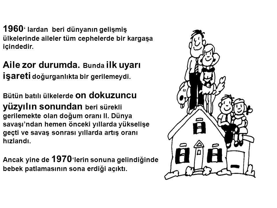 1960 ' lardan beri dünyanın gelişmiş ülkelerinde aileler tüm cephelerde bir kargaşa içindedir. Aile zor durumda. Bunda ilk uyarı işareti doğurganlıkta