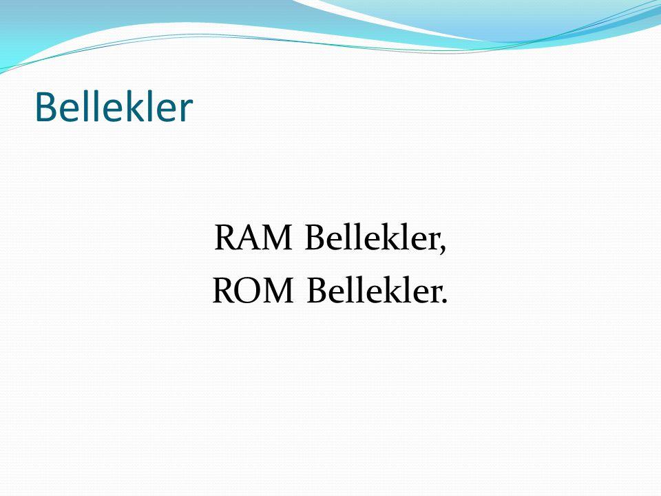 RAM Bellekler, ROM Bellekler.