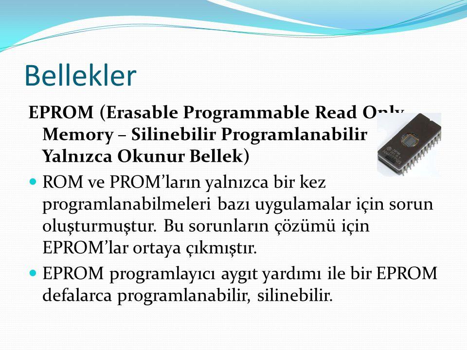 Bellekler EPROM (Erasable Programmable Read Only Memory – Silinebilir Programlanabilir Yalnızca Okunur Bellek) ROM ve PROM'ların yalnızca bir kez programlanabilmeleri bazı uygulamalar için sorun oluşturmuştur.