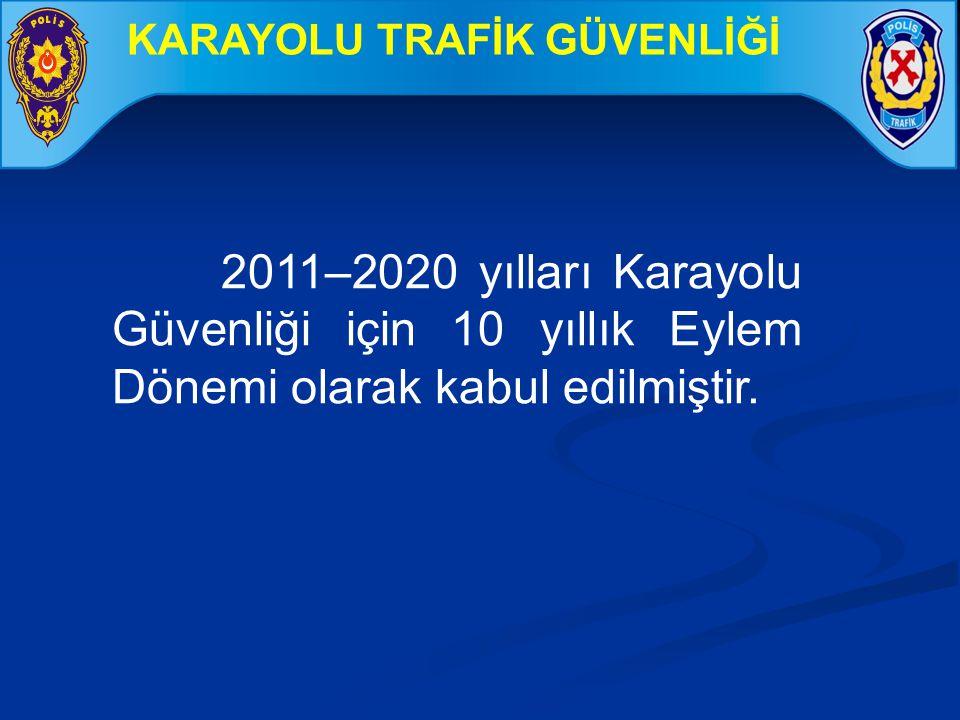 2011–2020 yılları Karayolu Güvenliği için 10 yıllık Eylem Dönemi olarak kabul edilmiştir. KARAYOLU TRAFİK GÜVENLİĞİ