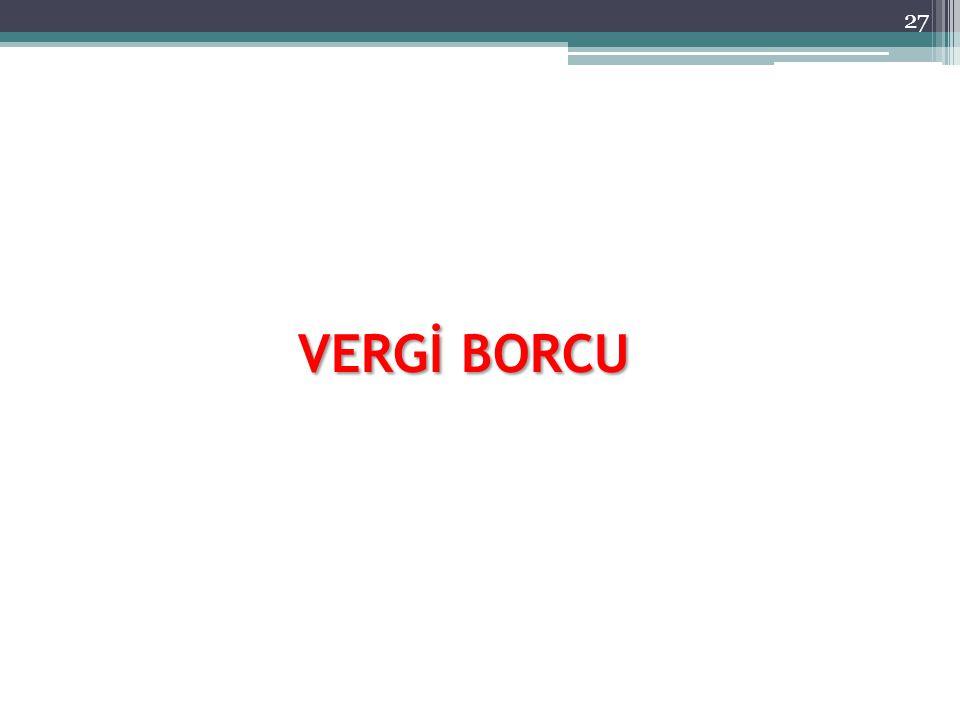 VERGİ BORCU 27