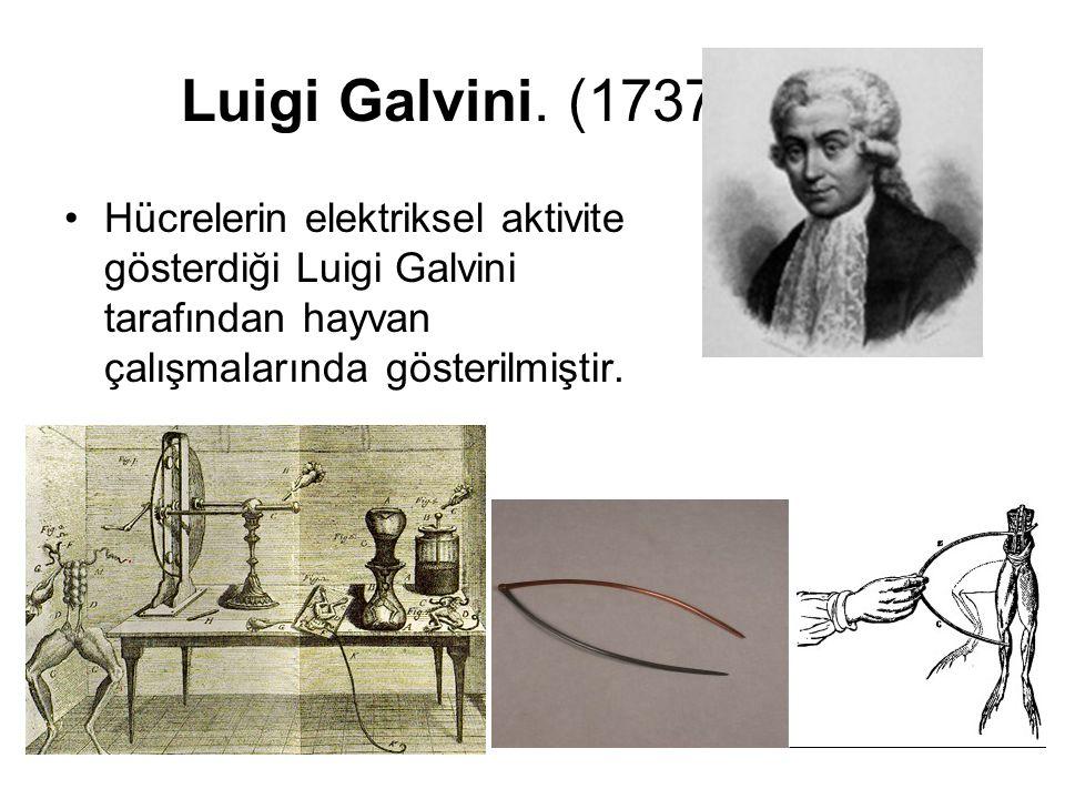 Luigi Galvini. (1737-1798) Hücrelerin elektriksel aktivite gösterdiği Luigi Galvini tarafından hayvan çalışmalarında gösterilmiştir. asların elektriks