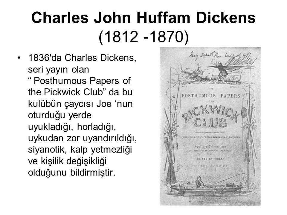 "Charles John Huffam Dickens (1812 -1870) 1836'da Charles Dickens, seri yayın olan "" Posthumous Papers of the Pickwick Club"" da bu kulübün çaycısı Joe"