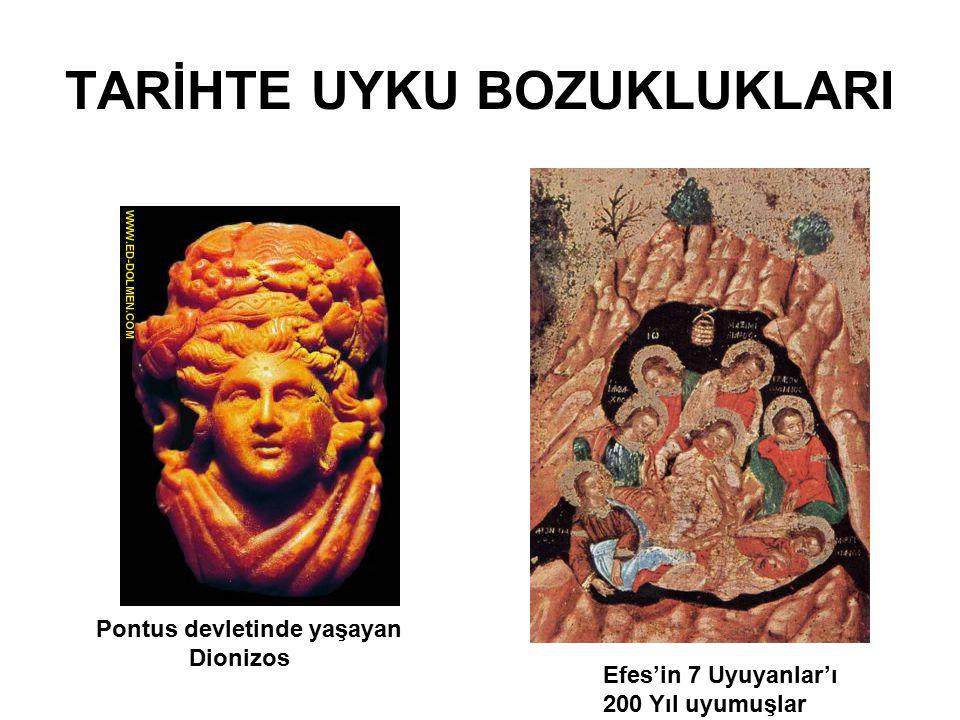 TARİHTE UYKU BOZUKLUKLARI Efes'in 7 Uyuyanlar'ı 200 Yıl uyumuşlar Pontus devletinde yaşayan Dionizos