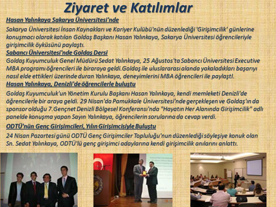 Ziyaret ve Katılımlar Hasan Yalınkaya Sakarya Üniversitesi'nde Sakarya Üniversitesi İnsan Kaynakları ve Kariyer Kulübü'nün düzenlediği 'Girişimcilik'
