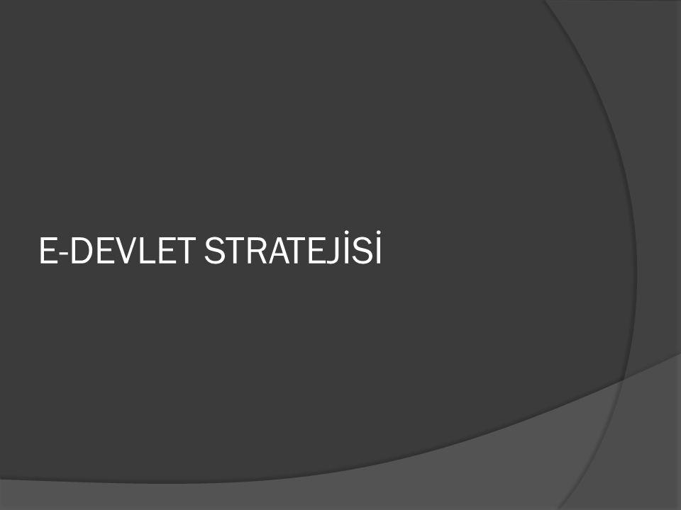 E-DEVLET STRATEJİSİ