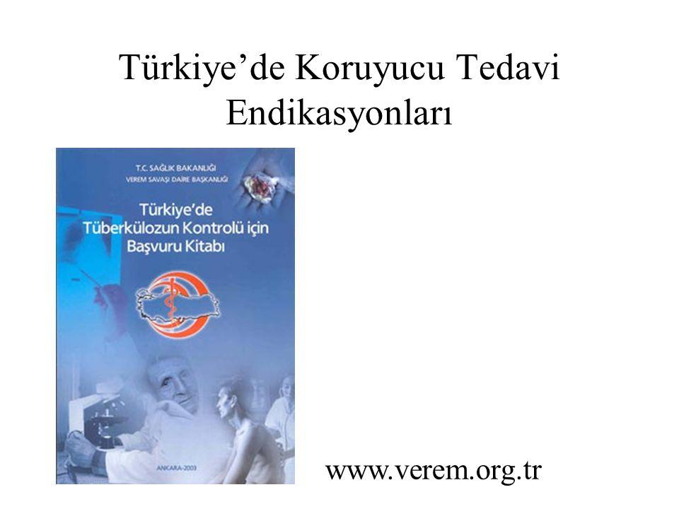 Türkiye'de Koruyucu Tedavi Endikasyonları www.verem.org.tr
