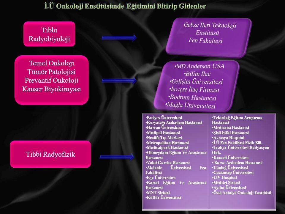 Tıbbi Radyobiyoloji Temel Onkoloji Tümör Patolojisi Prevantif Onkoloji Kanser Biyokimyası Temel Onkoloji Tümör Patolojisi Prevantif Onkoloji Kanser Biyokimyası Tıbbi Radyofizik