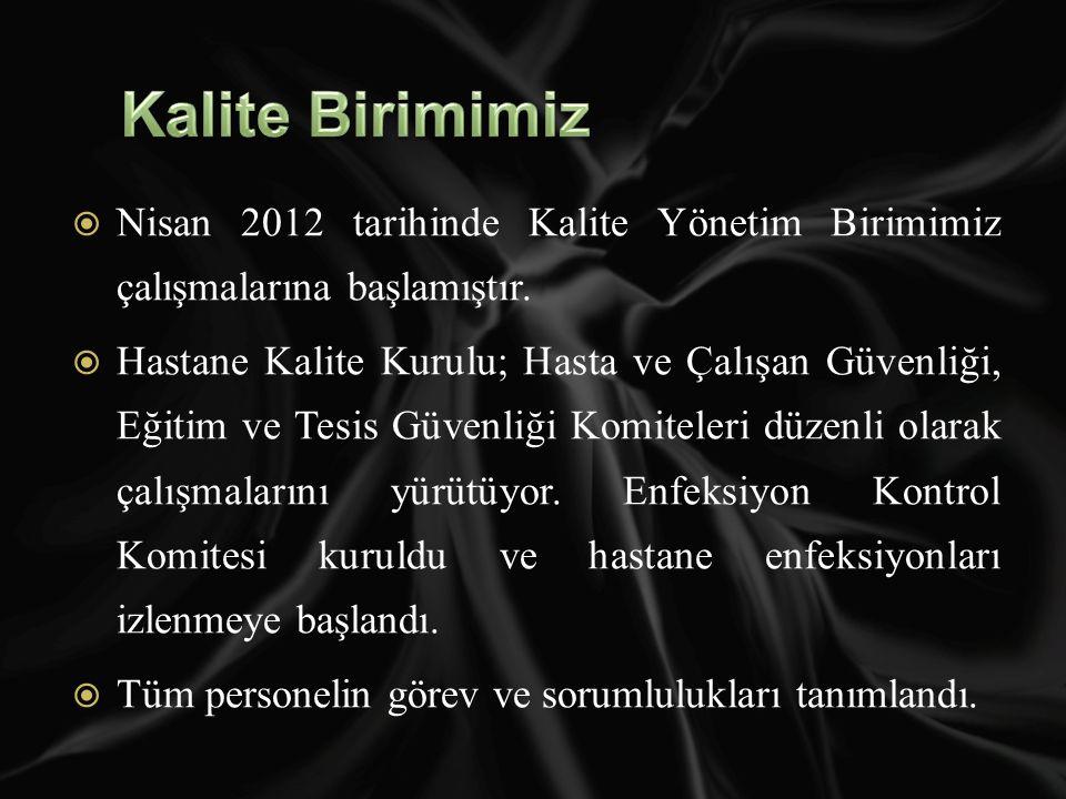  Nisan 2012 tarihinde Kalite Yönetim Birimimiz çalışmalarına başlamıştır.