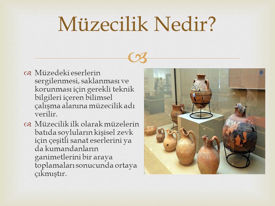   Toplama İşlevi  Belgeleme İşlevi  Koruma İşlevi  Sergileme İşlevi  Eğitim İşlevi Müzelerin İşlevleri