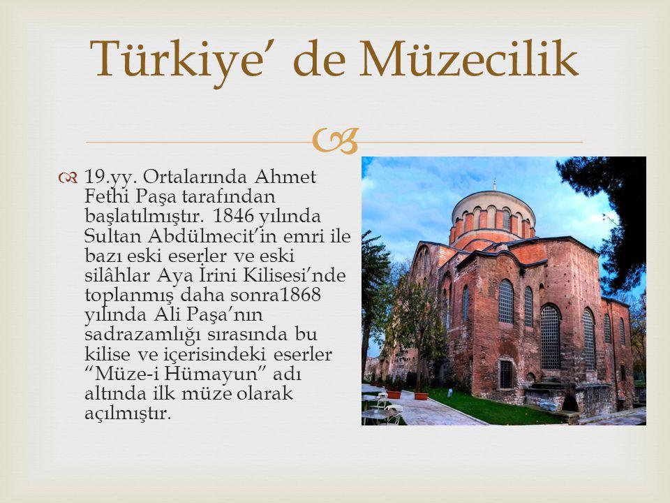   Bu dönemde Maarif Nezareti Osmanlı Devleti sınırları içerisinde bulunan tüm tarihî eserlerin İstanbul'a gönderilmesi konusunda bir emir yayınlamıştır.