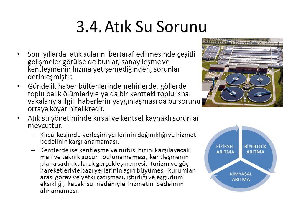 Türkiye'de su ve kanalizasyon hizmetlerinin yürütülmesinden sorumlu başlıca kurumlar, belediyeler, DSİ, İller Bankası ve büyükşehir belediyelerine bağlı su ve kanalizasyon genel müdürlükleridir.