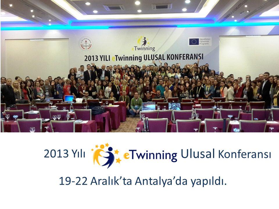 19-22 Aralık'ta Antalya'da yapıldı. 2013 Yılı Ulusal Konferansı