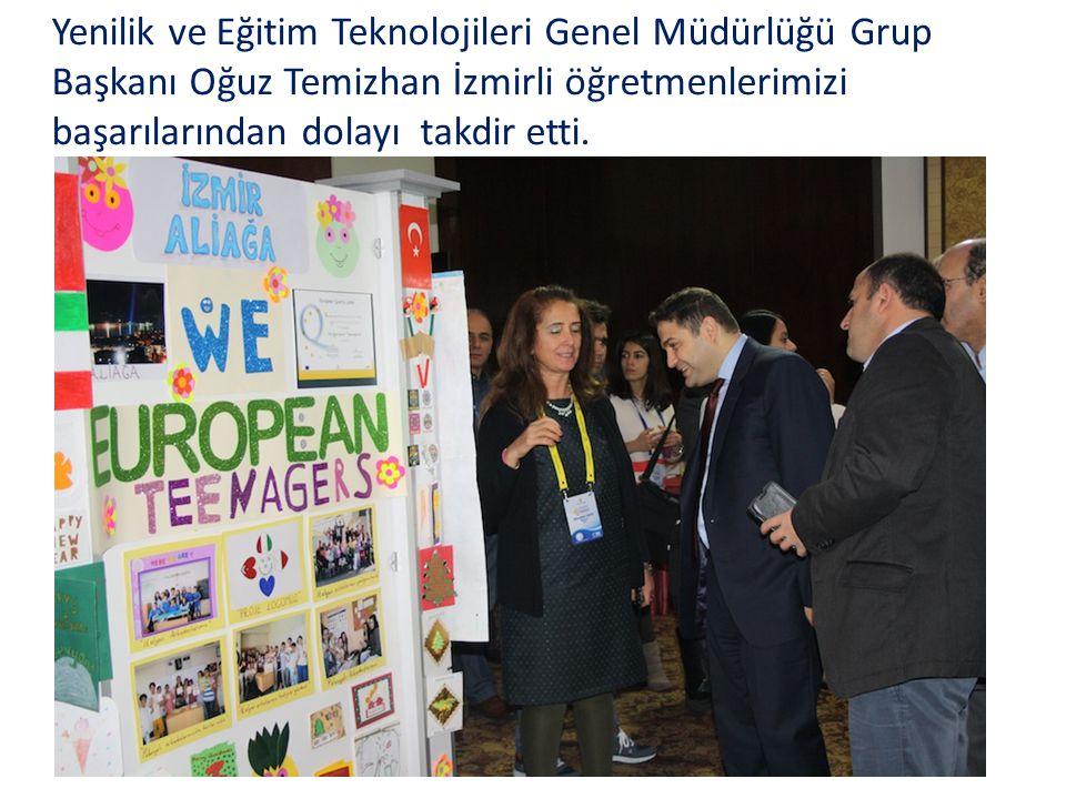 Yenilik ve Eğitim Teknolojileri Genel Müdürlüğü Grup Başkanı Oğuz Temizhan İzmirli öğretmenlerimizi başarılarından dolayı takdir etti.