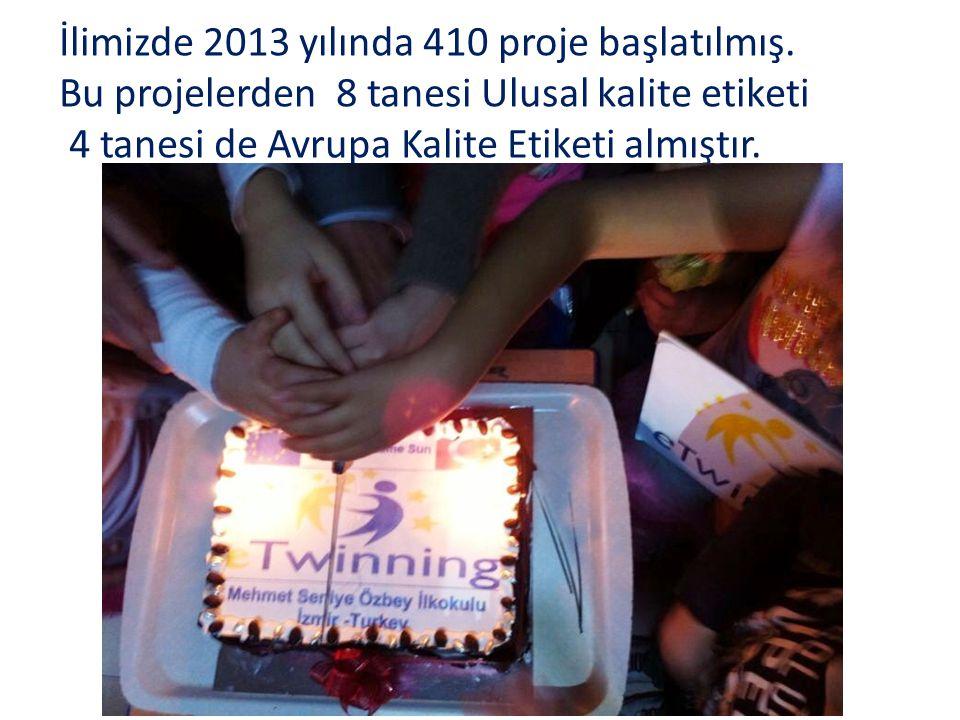 İlimizde 2013 yılında 410 proje başlatılmış.