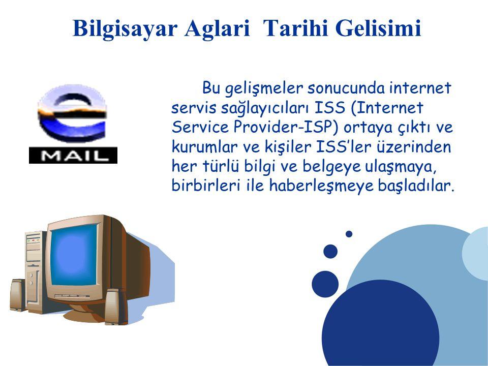 SDÜ KMYO Bu gelişmeler sonucunda internet servis sağlayıcıları ISS (Internet Service Provider-ISP) ortaya çıktı ve kurumlar ve kişiler ISS'ler üzerind