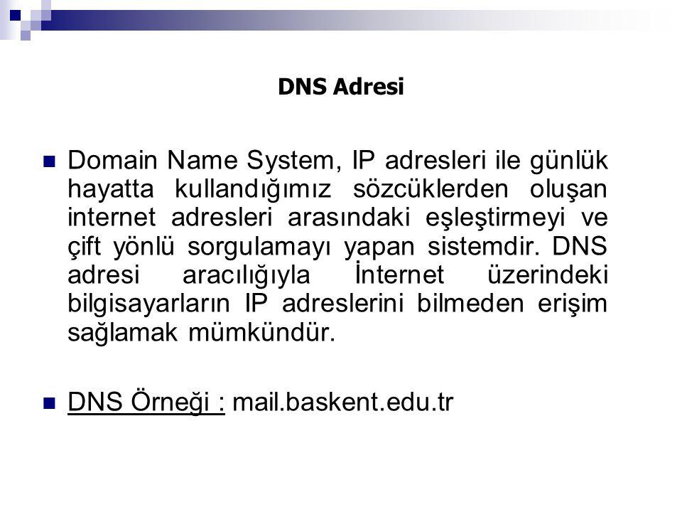 DNS Adresi Domain Name System, IP adresleri ile günlük hayatta kullandığımız sözcüklerden oluşan internet adresleri arasındaki eşleştirmeyi ve çift yö