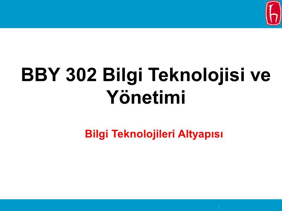 1 BBY 302 Bilgi Teknolojisi ve Yönetimi Bilgi Teknolojileri Altyapısı