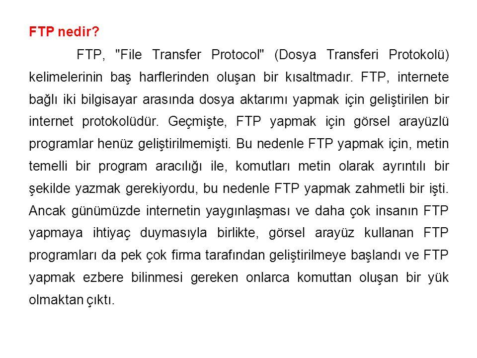 FTP nedir? FTP,