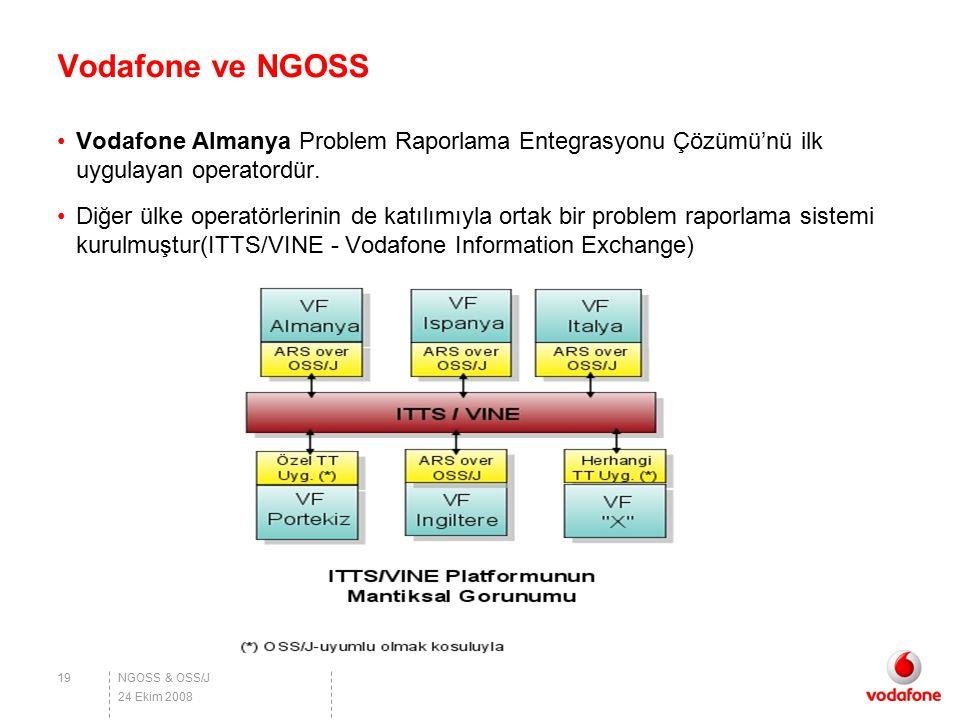 NGOSS & OSS/J Vodafone ve NGOSS Vodafone Almanya Problem Raporlama Entegrasyonu Çözümü'nü ilk uygulayan operatordür. Diğer ülke operatörlerinin de kat